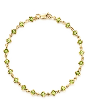 Peridot Station Bracelet in 14K Yellow Gold - 100% Exclusive