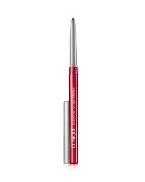 What It Is: A lipliner that provides all-day, non-drying wear. What It Does: Can be used to line and define lips or used all over lips for extended wear. Non-drying formula helps keep lipstick in place. Prevents feathering and bleeding. No sharpening required. Allergy-tested Key Ingredients: Rice bran wax Free Of. Fragrance Parabens Finish: Matte Coverage: Full How To Use It: Prepare lips for color with All About Lips. Swivel up only 1/8 (pencil does not retract to avoid exposing formula to air,