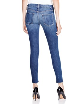 MOTHER - The Looker Ankle Fray Skinny Jeans in Girl Crush