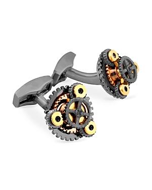 Tateossian Gunmetal Free Gear Cufflinks