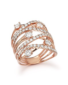 Bloomingdale's - Diamond Statement Ring in 14K Rose Gold, 2.25 ct. t.w.- 100% Exclusive