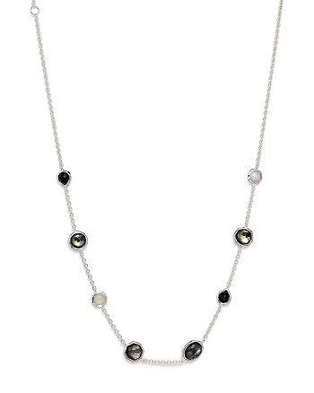 "IPPOLITA - Sterling Silver Rock Candy® Mini Gelato Short Station Necklace in Black Tie, 16"""