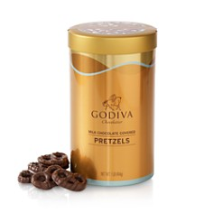 GODIVA® Milk Chocolate Covered Pretzel Tin - Bloomingdale's_0