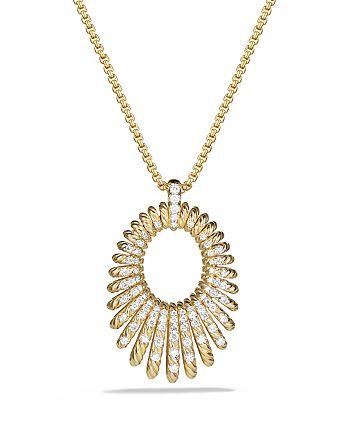 David Yurman - Tempo Necklace with Diamonds in 18K Gold