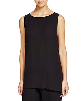 Eileen Fisher - High/Low Silk Tank