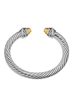 David Yurman - Crossover Bracelet with Diamonds and Citrine in Silver
