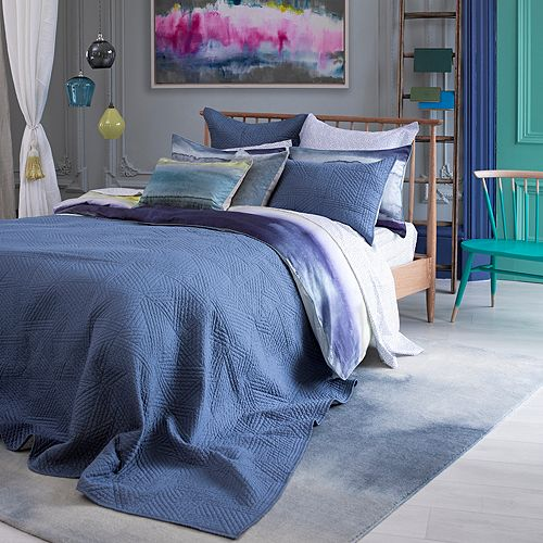 bluebellgray - Kintail Solid Quilted Euro Sham