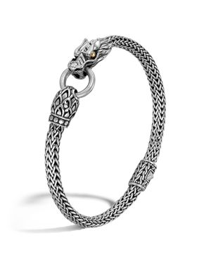 John Hardy Naga Gold and Silver Dragon Station Chain Bracelet