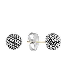 LAGOS - LAGOS Sterling Silver Beaded Earrings, 10mm