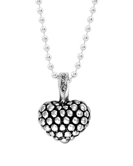 LAGOS - LAGOS Sterling Silver Beaded Heart Pendant Necklace