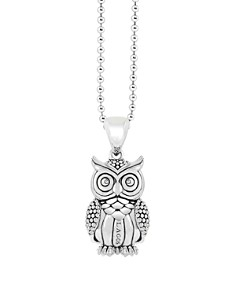 LAGOS - LAGOS Sterling Silver Rare Wonders Owl Pendant Necklace, 34""