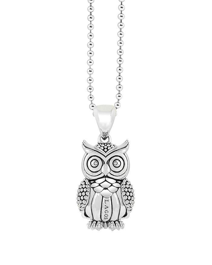 "LAGOS - LAGOS Sterling Silver Rare Wonders Owl Pendant Necklace, 34"""