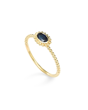 Lagos 18K Gold Oval Sapphire Stackable Ring