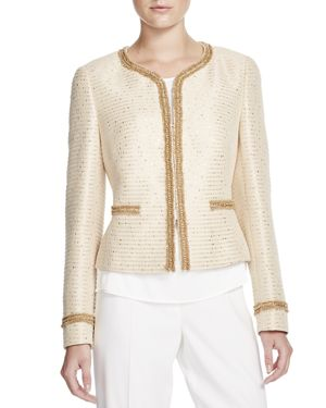 Basler Tweed Glitter Cropped Jacket