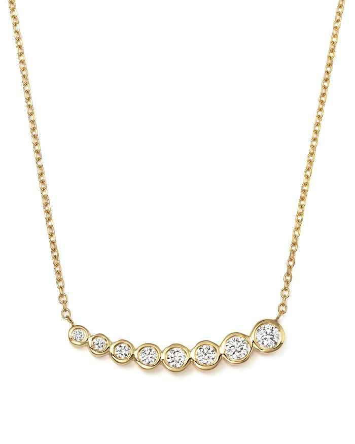 KC Designs - Diamond Graduated Bezel Pendant Necklace in 14K Yellow Gold, 0.20 ct. t.w.