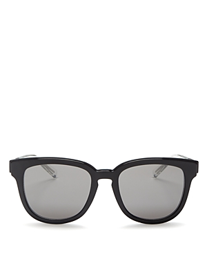 Dior Homme Black Tie 213 Rectangle Sunglasses, 52mm