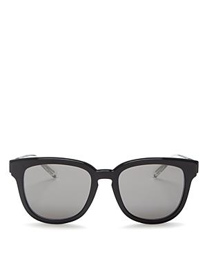 Dior Homme Black Tie Mirrored Square Sunglasses, 52mm