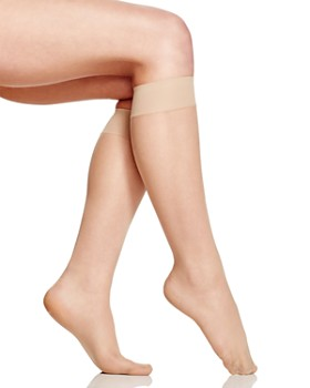 HUE - Sheer Knee-High Socks, Set of 2