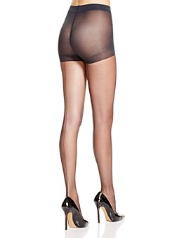 HUE - Sheer Back Seam Control Top Tights