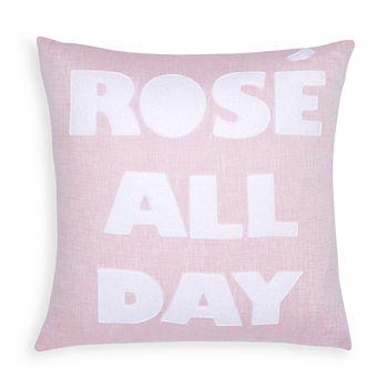 "Alexandra Ferguson - Rosé All Day Decorative Pillow, 16"" x 16"""