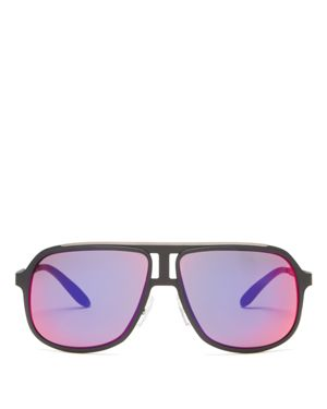 Carrera Mirrored Square Sunglasses, 59mm
