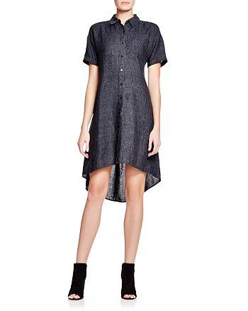 Eileen Fisher - High/Low Linen Shirt Dress - 100% Exclusive