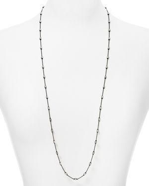 OFFICINA BERNARDI Chain Necklace, 36 in Black/Silver