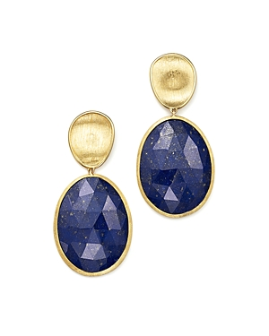 Marco Bicego 18K Yellow Gold Lapis Two Drop Earrings - 100% Exclusive