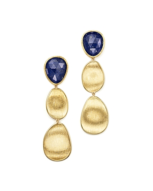 Marco Bicego 18K Yellow Gold Lapis Three Drop Earrings - 100% Exclusive