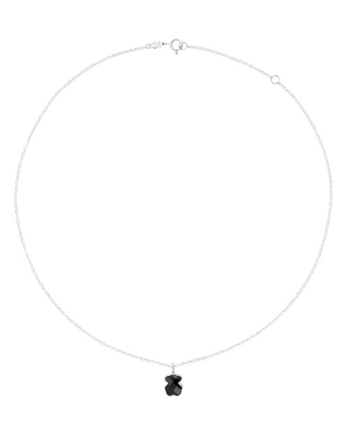 TOUS - Onyx Bear Pendant Necklace, 16""