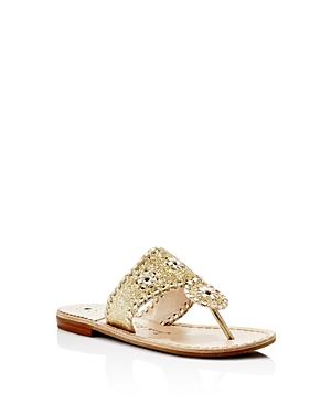 Girls Jack Rogers Miss Sparkle Sandal Size 3 M  Metallic