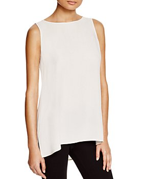 Eileen Fisher Petites - Petite High/Low Silk Tank