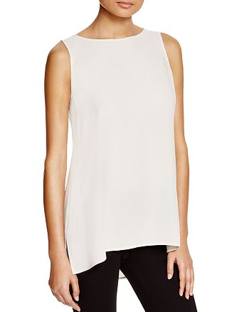 Eileen Fisher - System High/Low Silk Tank
