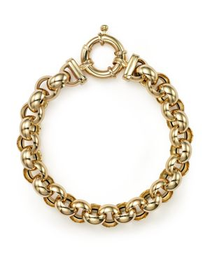 14K Yellow Gold Medium Rolo Bracelet - 100% Exclusive