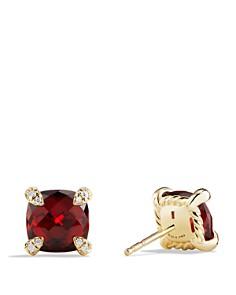 David Yurman - Châtelaine® Stud Earrings with Gemstones & Diamonds