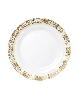 VIETRI - Rufolo Glass Gold Charger