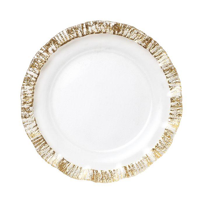 VIETRI - Rufolo Glass Gold Charger