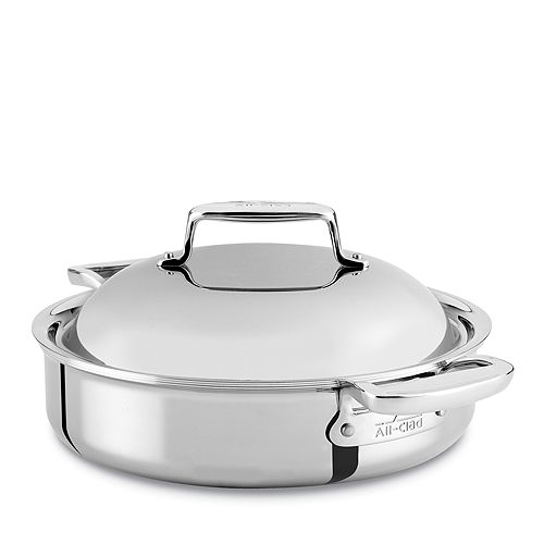 All-Clad - d7 Stainless 4 Quart Braiser with Lid