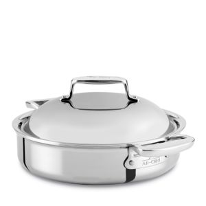 All Clad d7 Stainless 4 Quart Braiser with Lid