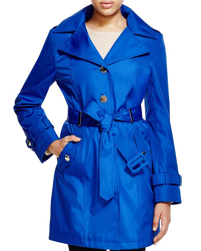 Calvin Klein - Hooded Belted Trench Coat