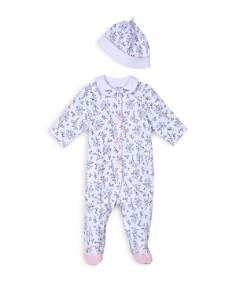 Little Me Girls' Bird Toile Footie & Hat Set - Baby - Bloomingdale's_0