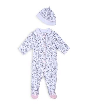 Little Me Girls Bird Toile Footie  Hat Set  Baby