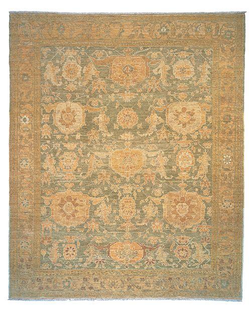 "Tufenkian Artisan Carpets - Sebastia Sage Oriental Rug, 2'6"" x 10'6"""