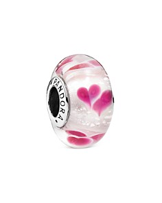 PANDORA Moments Collection Sterling Silver & Murano Glass Wild Hearts Charm - Bloomingdale's_0