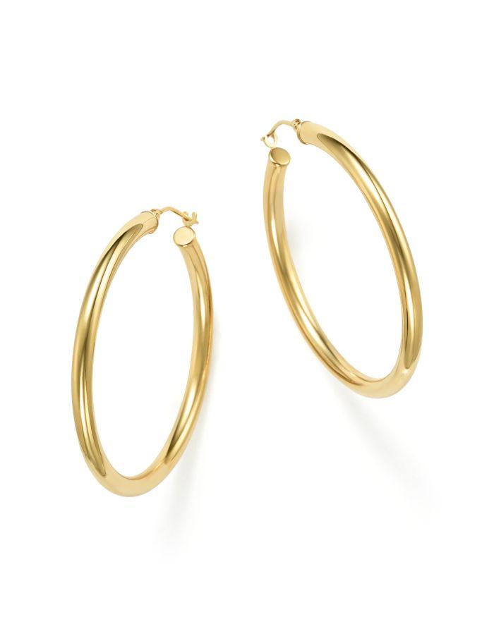 Bloomingdale's 14K Yellow Gold Round Hoop Earrings - 100% Exclusive    Bloomingdale's