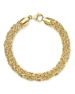 14K Yellow Gold Byzantine Chain Bracelet - 100% Exclusive