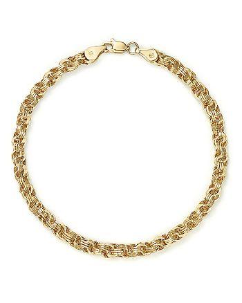 Bloomingdale's - 14K Yellow Gold Triple Link Bracelet - 100% Exclusive