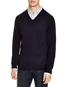 The Men's Store at Bloomingdale's V-Neck Cotton-Cashmere Sweater - 100% Exclusive_0