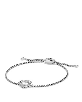 David Yurman - Cable Collectibles Heart Station Bracelet with Diamonds