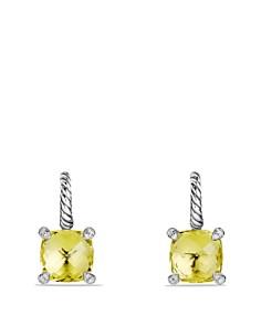 David Yurman - Châtelaine Drop Earrings with Lemon Citrine and Diamonds